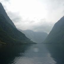 Le Nærøyfjord, le départ.